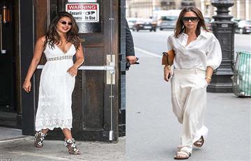 Priyanka Chopra y Victoria Bekcham confirman que el color Blanco está de moda.