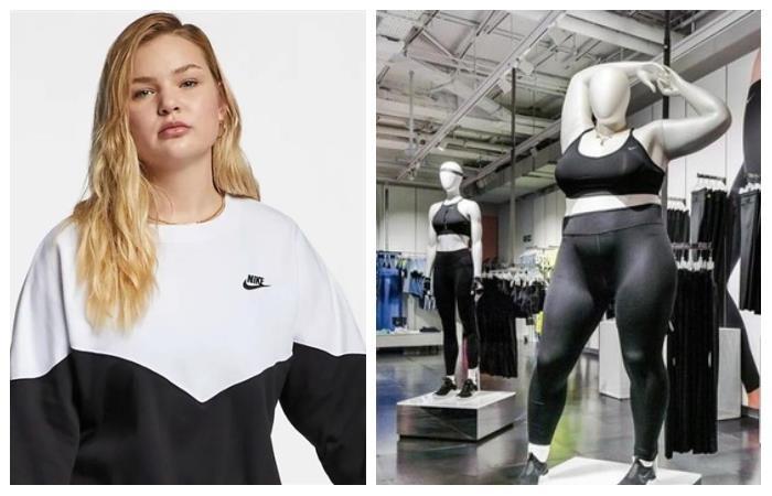 28a11ef2 Nike: la reconocida marca deportiva inlcuye maniquíes de tallas grandes en  sus tiendas