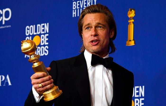 Brad Pitt ganó el Globo de Oro por