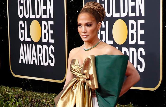 Jennifer López acaparó las miradas en los Globos de Oro. Foto: EFE