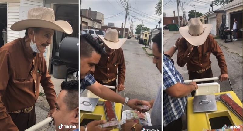 Tik Tok: Familia compra todo el helado de un abuelito para que se vaya a casa. Foto: TikTok