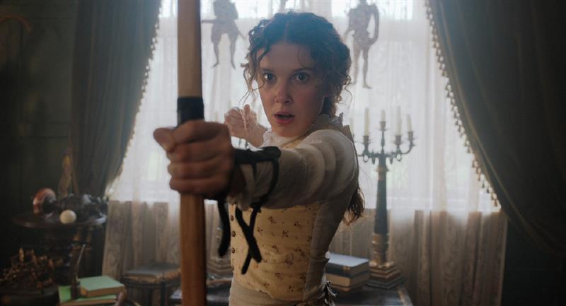 Netflix revela las primeras imágenes de su nueva película Enola Holmes. Foto: Twitter @NetflixLAT