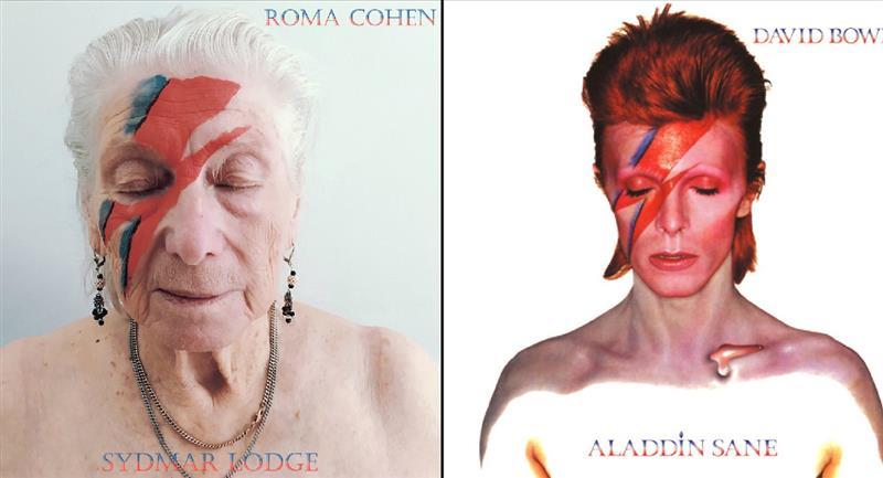 Ancianos recrean portadas de discos célebres del rock. Foto: Twitter