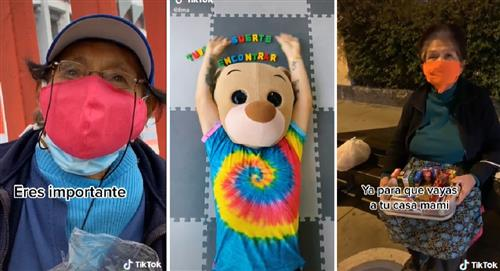 Osito Lima: Joven disfrazado de oso que ayuda a personas que venden en las calles