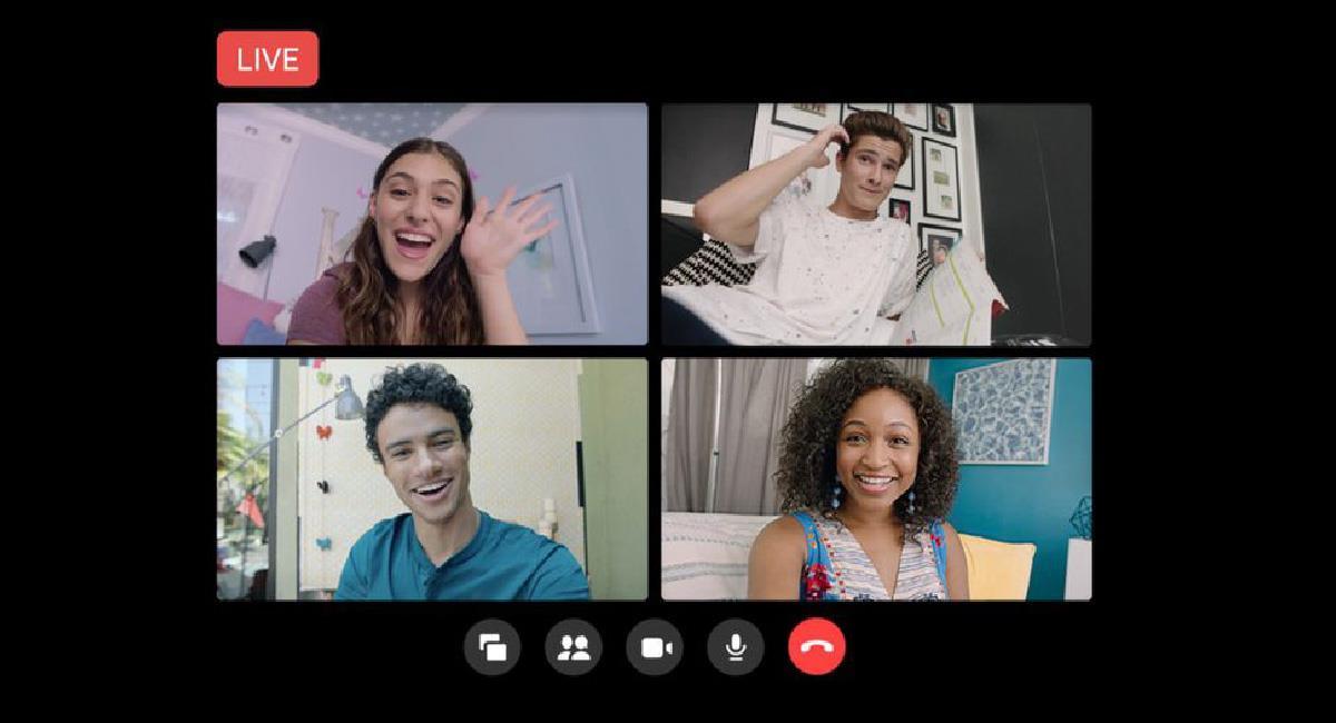 Facebook añade la opción de live en Rooms de Messenger. Foto: Facebook