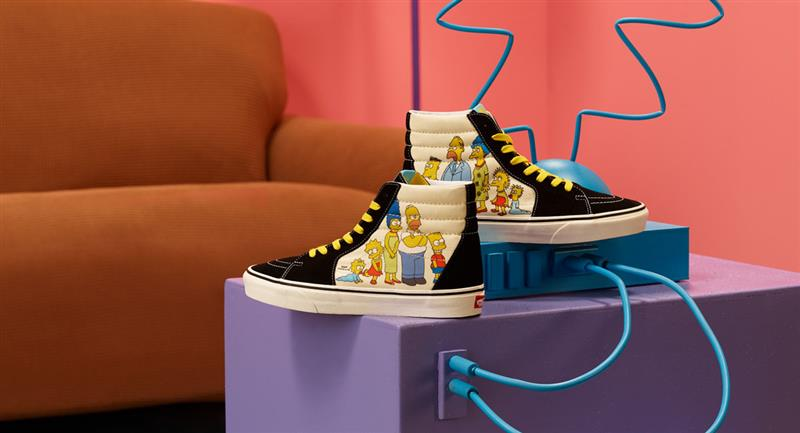 Vans lanza colección especial inspirada en Los Simpson. Foto: Twitter @vans_mx