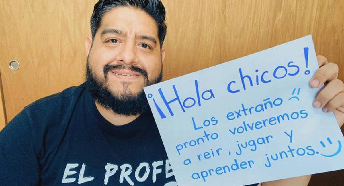 """""""El Profe Chido"""" se alista para el nuevo ciclo escolar en México. Foto: Carlos Rodríguez"""