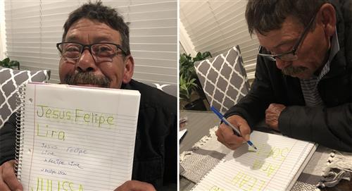 Nunca es tarde para aprender: Abuelito aprende a escribir durante la cuarentena