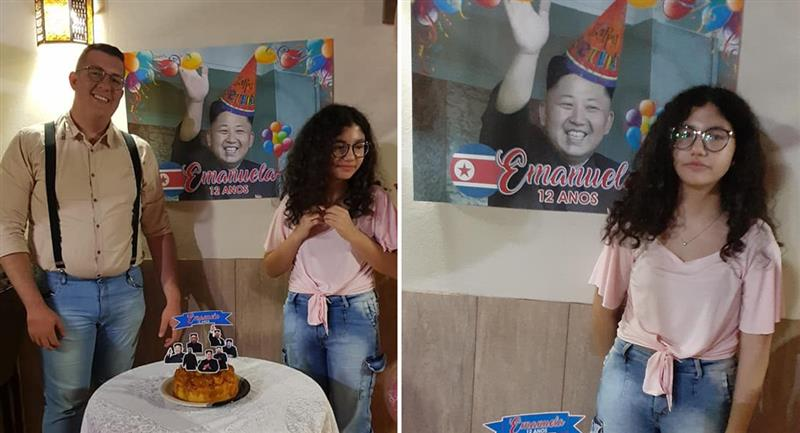 Joven organiza fiesta sorpresa y confunde a Kim Jong-Un con un artista K-pop. Foto: Facebook Victor de Souza