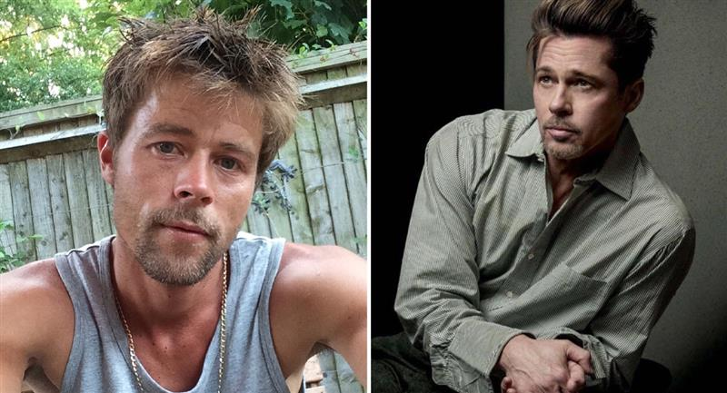 Así cambió la vida del albañil que se parece a Brad Pitt. Foto: Instagram @bradpitt_lookalike