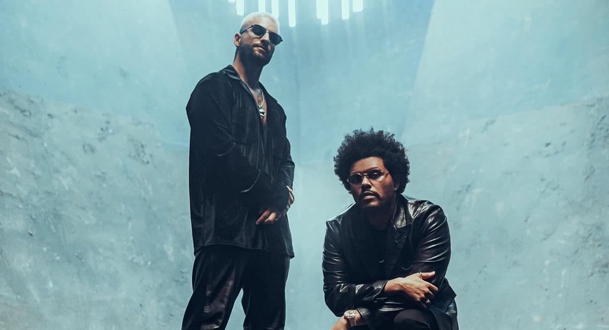 The Weeknd y Maluma preparan nueva colaboración. Foto: Twitter @theweeknd