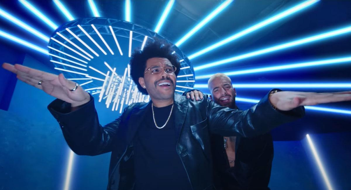 Así suena The Weeknd cantando en español junto a Maluma. Foto: Youtube Maluma