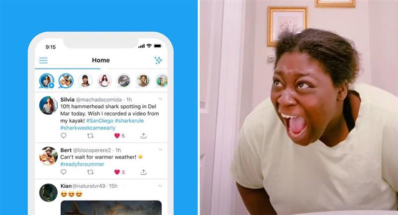 La divertida bienvenida de usuarios a las historias de Twitter. Foto: Twitter