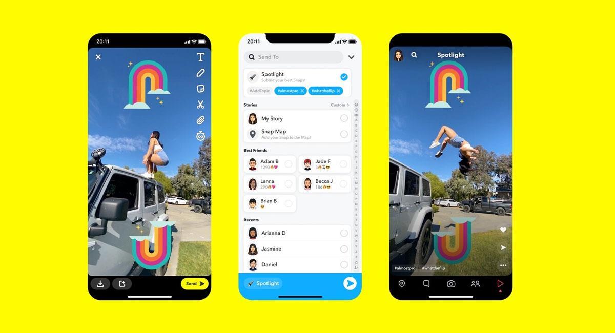 Snapchat ahora te pagará si tu contenido se vuelve viral. Foto: Snapchat