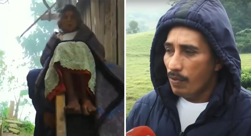Hombre carga enfermos de COVID-19 para llevarlos al hospital. Foto: Youtube