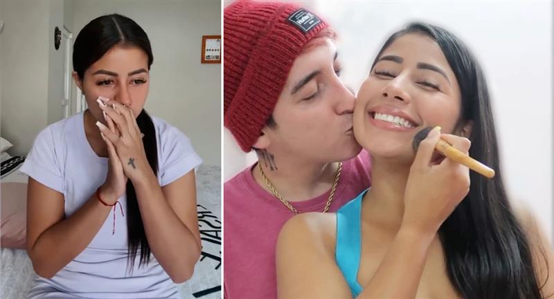 Mayita aparece llorando y aclara su relación con Anthony Lencina. Foto: Youtube / Instagram