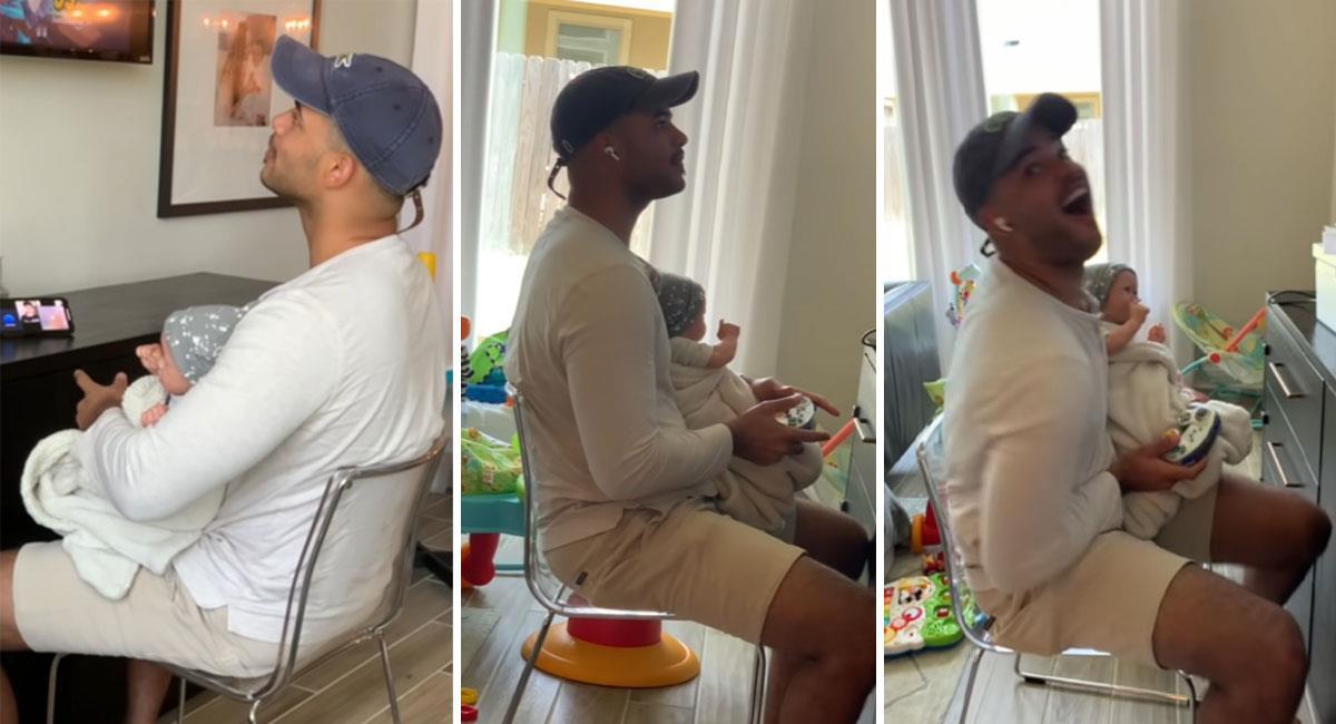 Distraído hombre cuida a un muñeco por dos horas pensando que era su bebé. Foto: Youtube THE SCOTTS
