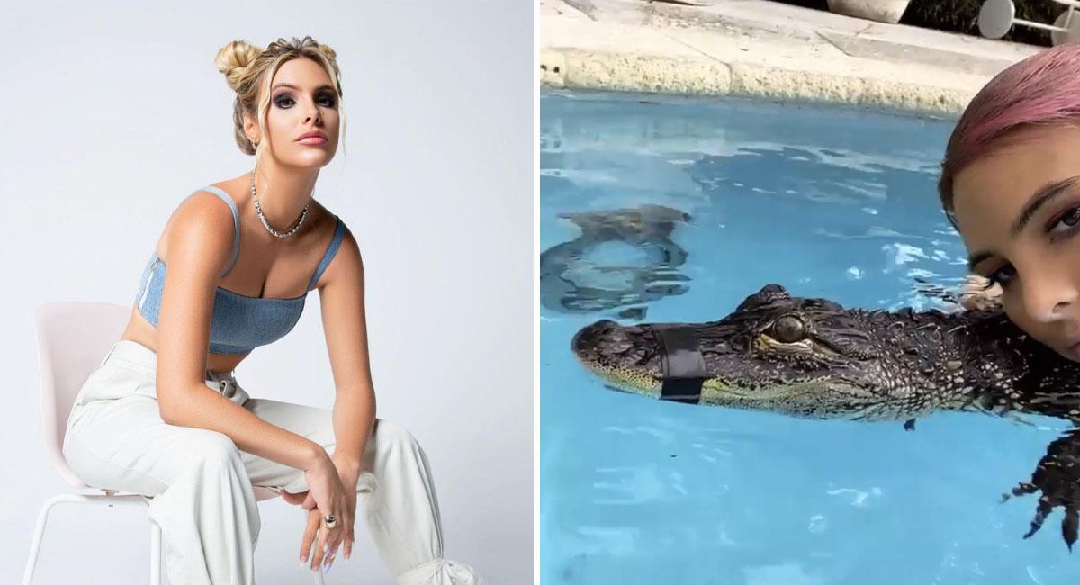 Lele Pons es acusada de maltrato animal por foto con cocodrilo. Foto: Instagram @lelepons