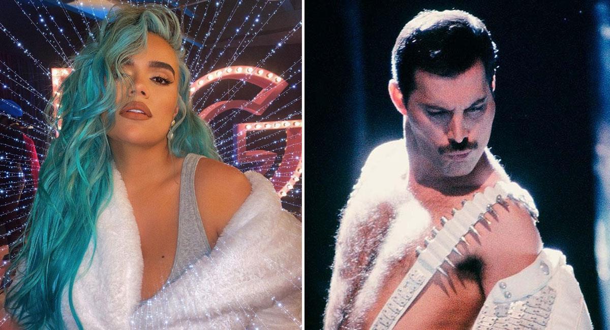 Comparan a Karol G con Freddie Mercury e internet reacciona. Foto: Instagram