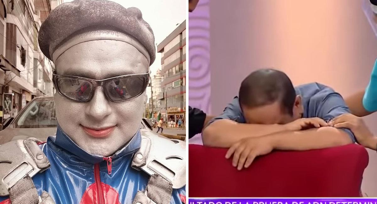Actor cómico llora de impotencia al enterarse que no es padre de sus hijos. Foto: Instagram @robotindelperu