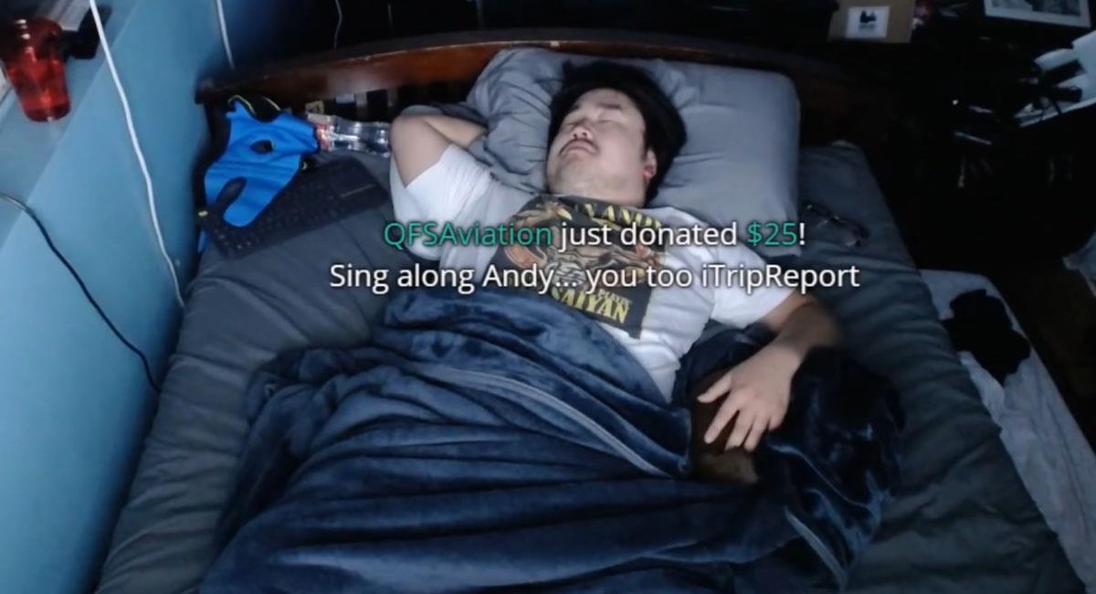 Streamer ganó 16 mil dólares al grabarse dormido. Foto: Youtube