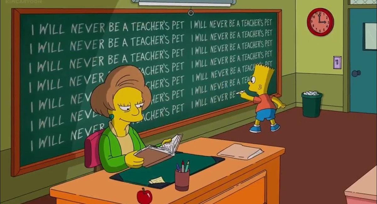 ¿Por qué no volvió la maestra Krabappel a Los Simpson?. Foto: Youtube