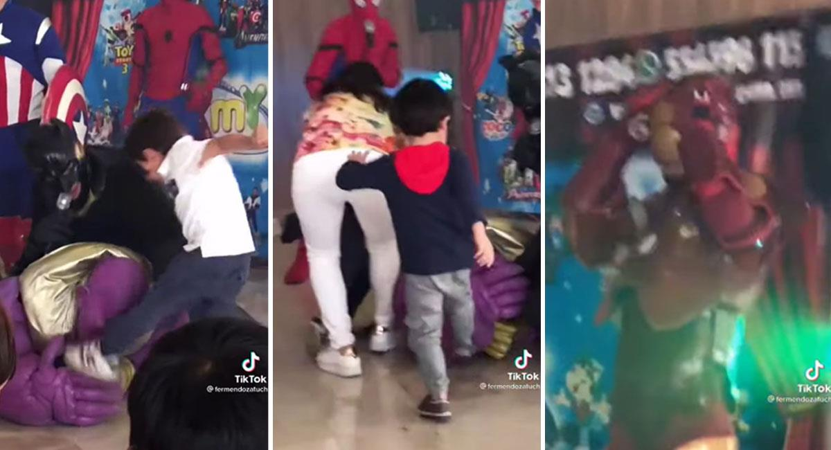 Niño patea a Thanos en una fiesta infantil y James Gunn responde. Foto: Youtube