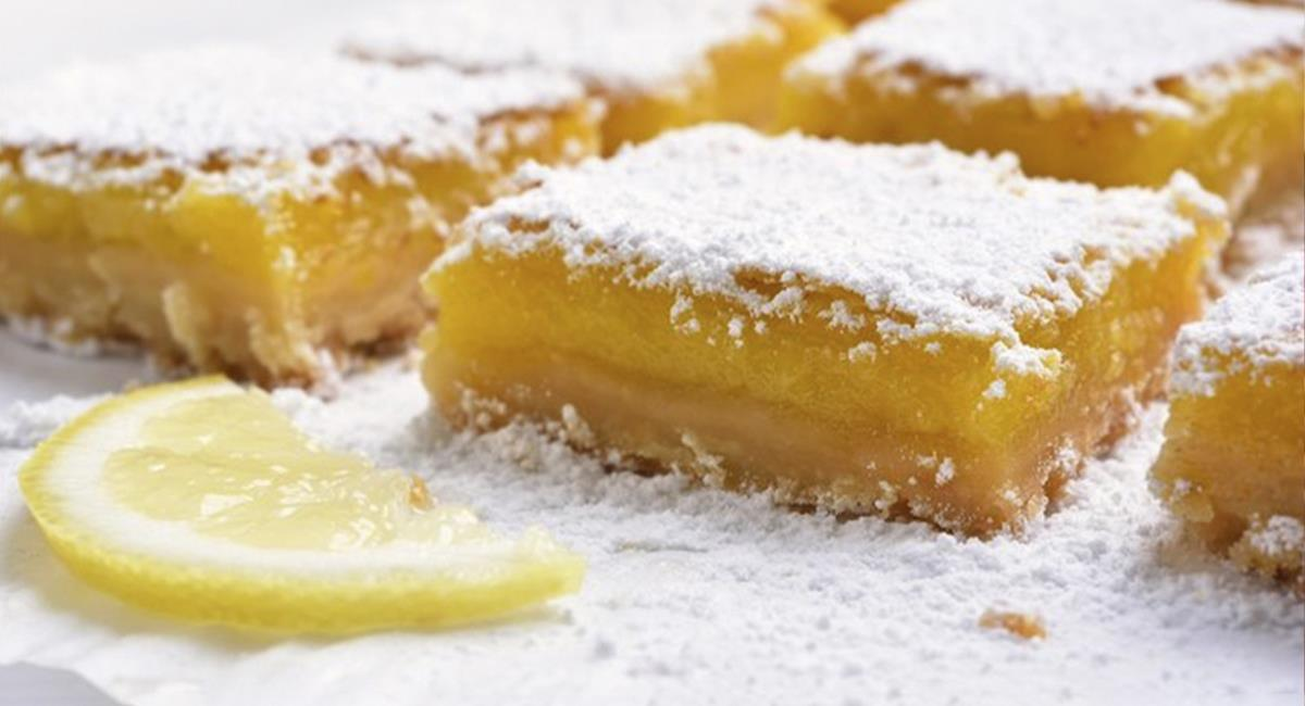 Receta: Barras de limón para saciar ese antojo de cuarentena. Foto: Cortesía